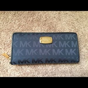 Navy Blue Michael Kors Wallet